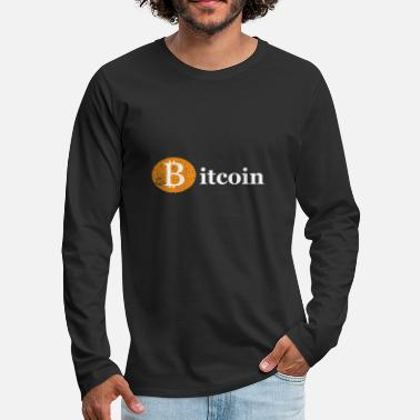 Canard Bitcoin Crypto Coin Blockchain Chemise - T-shirt manches longues Premium Homme