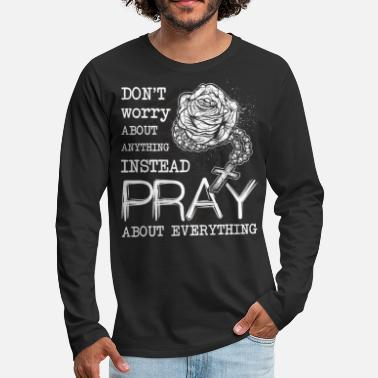 Christianity Rosary Christian Prayer Christianity - Men's Premium Longsleeve Shirt