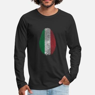 Fingerprint of Italy origin - Men's Premium Longsleeve Shirt