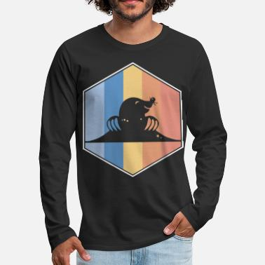 Hexagon Mole retro and vintage hexagon - Men's Premium Longsleeve Shirt