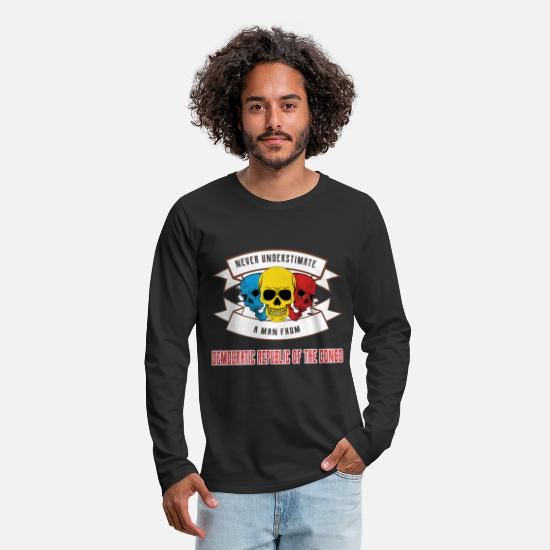 Sports Long Sleeve Shirts - Never underestimate anyone from the Democratic Republic - Men's Premium Longsleeve Shirt black