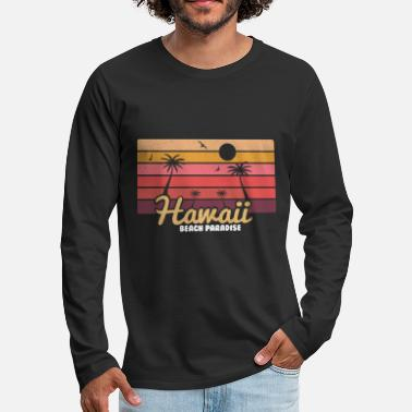 Hawaii Hawaii Hawaii party Hawaii blommakedja hawaii dekoration - Premium långärmad T-shirt herr