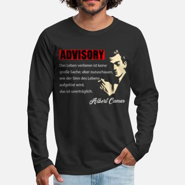 Philosophy Alber Camus - Losing Life - Men's Premium Longsleeve Shirt