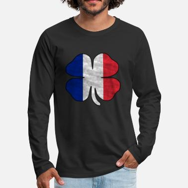 Drapeau national france - T-shirt manches longues premium Homme