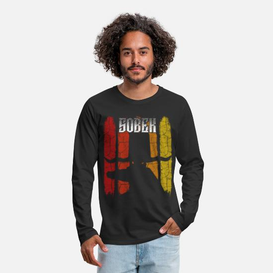 Gift Idea Long sleeve shirts - Retro vintage Sobek silhouette deity gift - Men's Premium Longsleeve Shirt black
