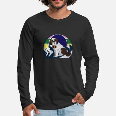 Search Rescue dog search dog St. Bernard mountain rescue service - Men's Premium Longsleeve Shirt
