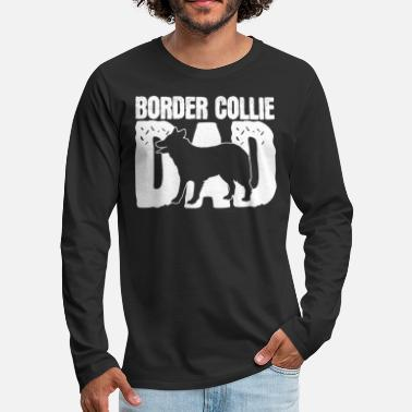 Collie Border Collie papá - Camiseta de manga larga premium hombre