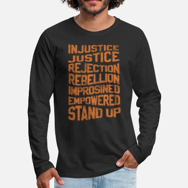Injustice INJUSTICE REBELLION EMPOWERED - Men's Premium Longsleeve Shirt