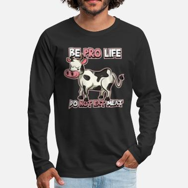 Funny Funny vegetarian cow design - Men's Premium Longsleeve Shirt