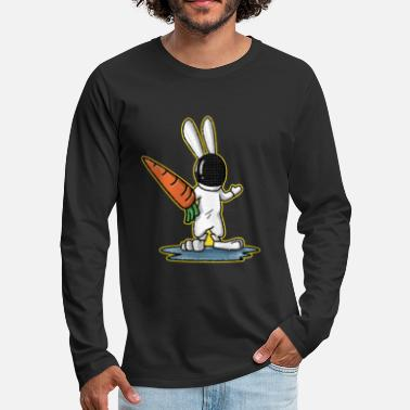Fencing I love fencing bunny easter carrot gift - Men's Premium Longsleeve Shirt