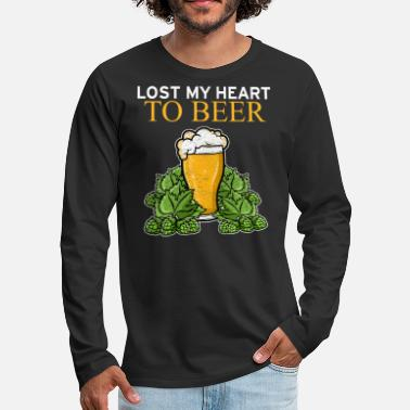 Wheat Lost My Heart To Beer Valentine's Day Beer - Men's Premium Longsleeve Shirt