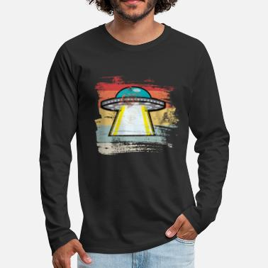 Outerspace Retro Outerspace - Men's Premium Longsleeve Shirt