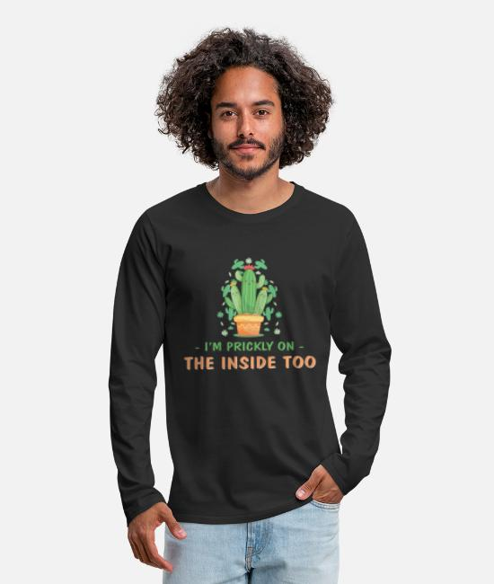 Character Long sleeve shirts - I am also prickly inside - Men's Premium Longsleeve Shirt black