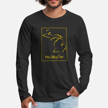 Michigan Michigan - Männer Premium Langarmshirt