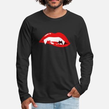 Vampire Vampire - halloween mouth teeth lips gift - Men's Premium Longsleeve Shirt