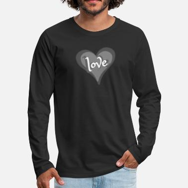 Love With Heart Love with Heart - Männer Premium Langarmshirt