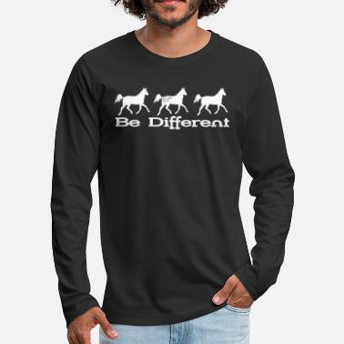 Cavalcare Be different - Appaloosa - Maglietta maniche lunghe premium uomo