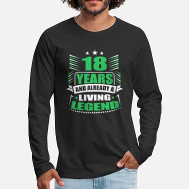 18th Birthday 18th birthday - Men's Premium Longsleeve Shirt