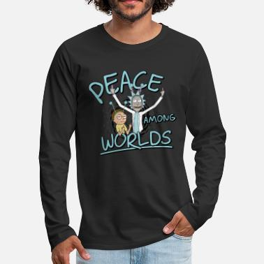 Rick & Morty Peace Among Worlds - Premium langermet T-skjorte for menn