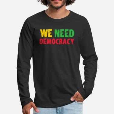 Süd We need Democracy - Myanmar - Männer Premium Langarmshirt