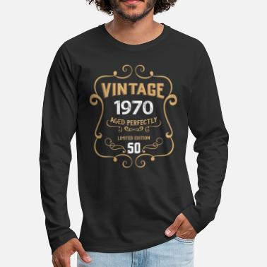 Gold Vintage 1970 Aged Perfectly, 50th Birthday Gift - Men's Premium Longsleeve Shirt