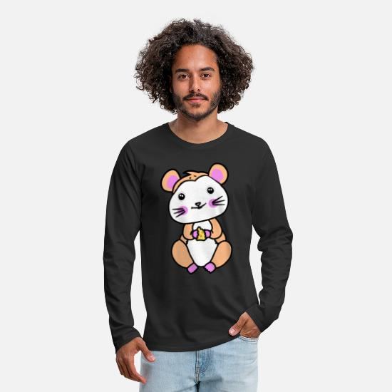 Pet Long Sleeve Shirts - Hamster rodent fantasy children hunger - Men's Premium Longsleeve Shirt black
