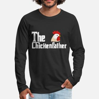 Rooster Chickens Rooster Farmer Poultry Hen Rooster Chicks - Men's Premium Longsleeve Shirt