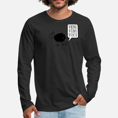 Schwarzes Schaf Schwarzes Schaf Pisser / Sheep in wolf's clothing - Men's Premium Longsleeve Shirt
