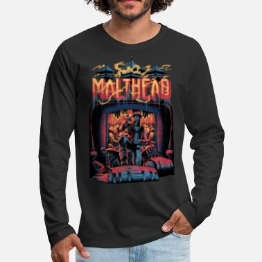 Malthead Whiskey Fan Shirt - Table tournante pour whisky - T-shirt manches longues premium Homme