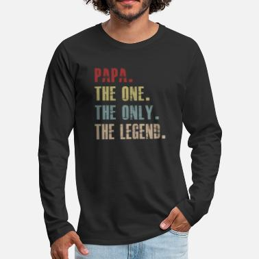 PAPA The One The Only Legend Vintage Fathers - Premium långärmad T-shirt herr