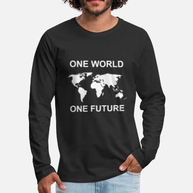 Chance fridays for future one world one future - Männer Premium Langarmshirt