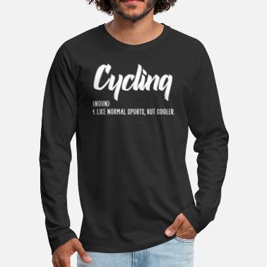 Race Car cycling like normal sports - Men's Premium Longsleeve Shirt