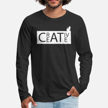 Typography cat typography - Men's Premium Longsleeve Shirt