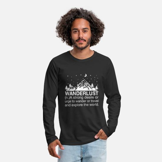 Travel Long Sleeve Shirts - hike - Men's Premium Longsleeve Shirt black