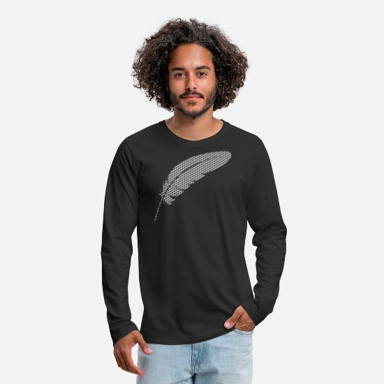Skies Long sleeve shirts - feather - Men's Premium Longsleeve Shirt black