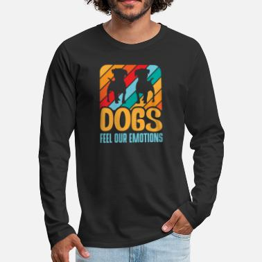 Dog dog walker - Men's Premium Longsleeve Shirt
