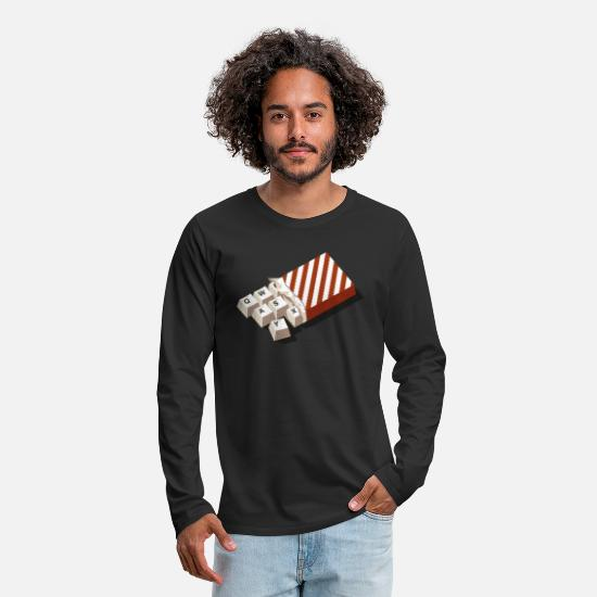 Collection Manches longues - chockeys v2 - T-shirt manches longues premium Homme noir