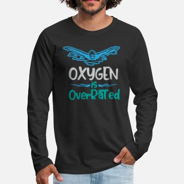 Physics Oxygen is overrated - Swimming - Men's Premium Longsleeve Shirt