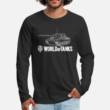 Of World of Tanks Jagdtiger Men Longsleeve - Premium långärmad T-shirt herr