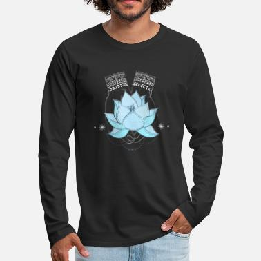 lotus flower - Men's Premium Longsleeve Shirt