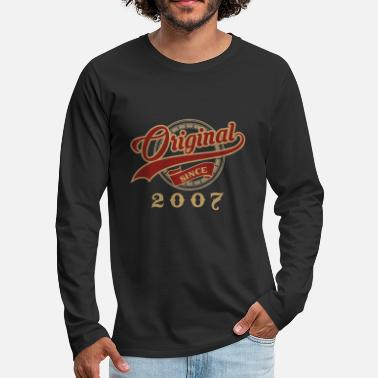 Birth Original since 2007 - vintage gift birthday - Men's Premium Longsleeve Shirt