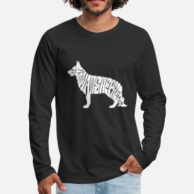 German German shepherd dog, german shepherd - Men's Premium Longsleeve Shirt