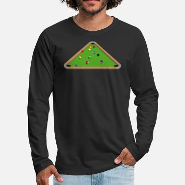Pool Bermuda Pool Table - Männer Premium Langarmshirt