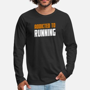 Cook Addicted To Running Lopning Gift - Men's Premium Longsleeve Shirt