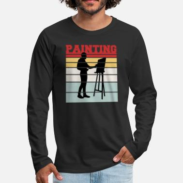 Malovani Retro painting team t-shirt - Men's Premium Longsleeve Shirt