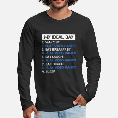 Games Grappige IDeal Day Game Gaming Gamer Gift - Mannen premium longsleeve