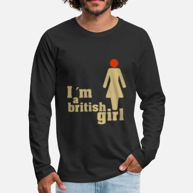I'ma british girl - Men's Premium Longsleeve Shirt