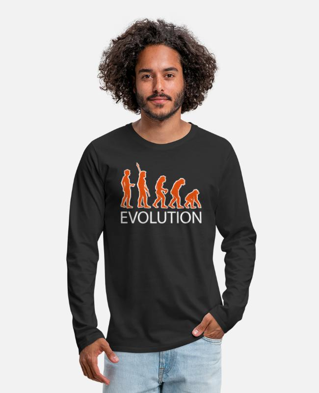 Darwin Long-Sleeved Shirts - evolution - Men's Premium Longsleeve Shirt black