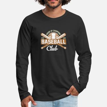 League Club de beisbol - Camiseta de manga larga premium hombre