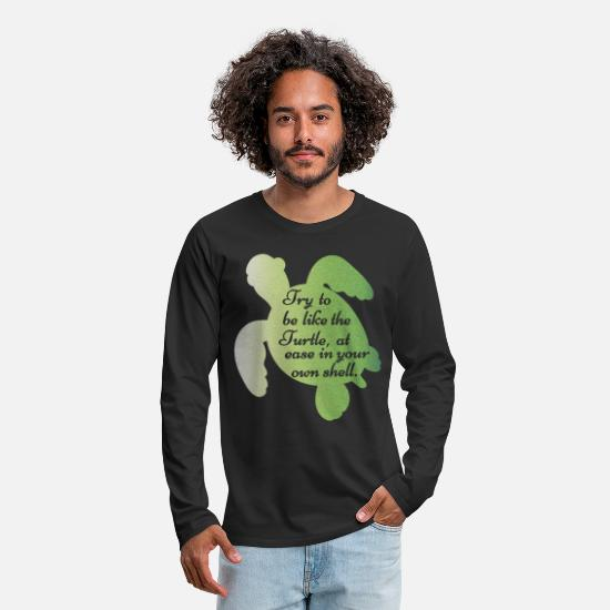 Mens-turtle-t-shirt Long Sleeve Shirts - Cute Funny Turtle Sea Turtles Gift Turtle Lover - Men's Premium Longsleeve Shirt black